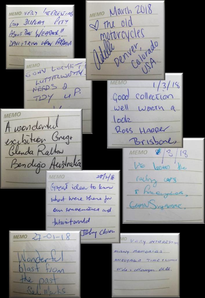 Yalhurst Museum visitor book